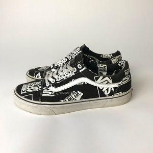 Vans Old Skool Logo Mix Black and White Shoe